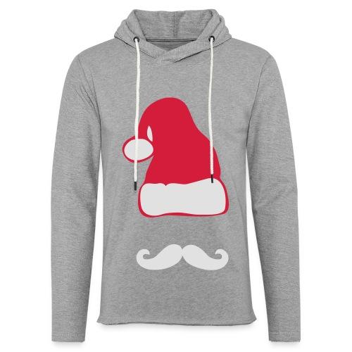 Weihnachtsmann mit Moustache - Leichtes Kapuzensweatshirt Unisex