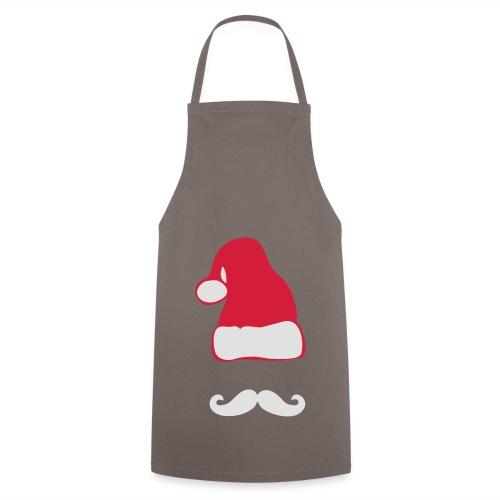 Weihnachtsmann mit Moustache - Kochschürze