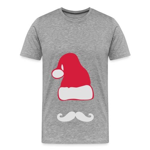 Weihnachtsmann mit Moustache - Männer Premium T-Shirt
