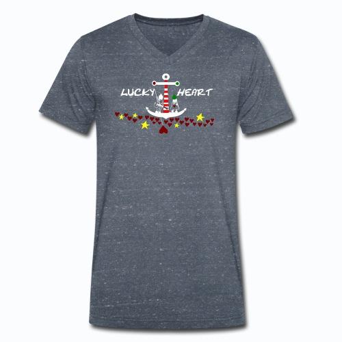 Lucky Heart - Painting the moon - Männer Bio-T-Shirt mit V-Ausschnitt von Stanley & Stella