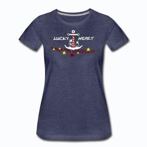 Lucky Heart - Painting the moon - Frauen Premium T-Shirt