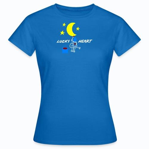 Lucky Heart - Painting the moon - Frauen T-Shirt