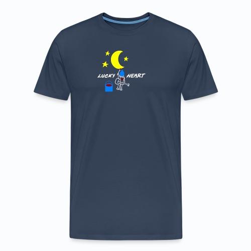 Lucky Heart - Painting the moon - Männer Premium T-Shirt