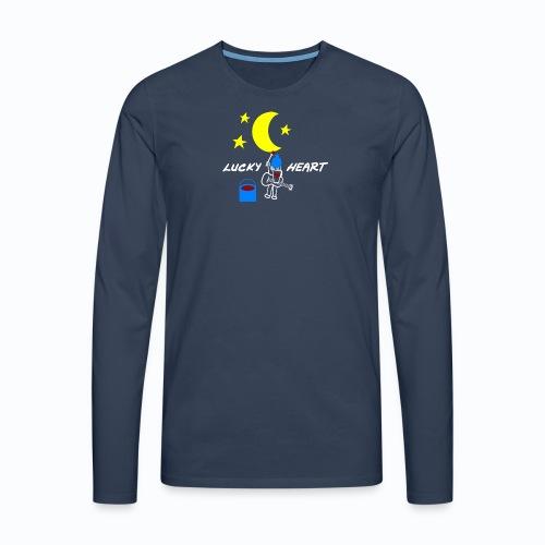 Lucky Heart - Painting the moon - Männer Premium Langarmshirt