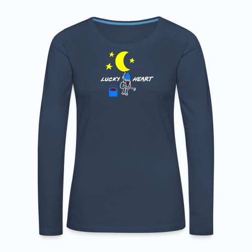 Lucky Heart - Painting the moon - Frauen Premium Langarmshirt