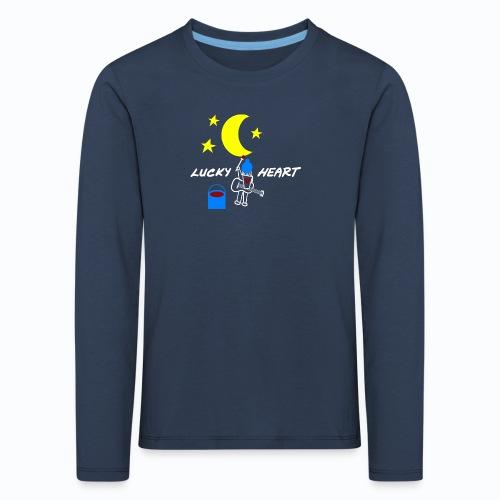 Lucky Heart - Painting the moon - Kinder Premium Langarmshirt