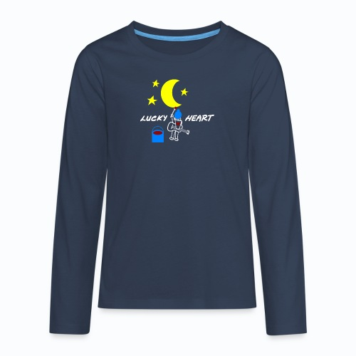 Lucky Heart - Painting the moon - Teenager Premium Langarmshirt