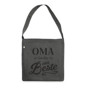 Oma - Schultertasche aus Recycling-Material