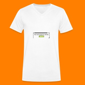 Submit to continue - men's tee - Men's Organic V-Neck T-Shirt by Stanley & Stella