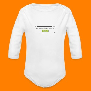 Submit to continue - men's tee - Longsleeve Baby Bodysuit