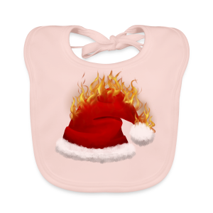 Brændende Nissehue - Baby økologisk hagesmæk