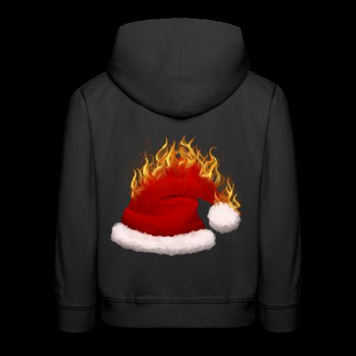 Brændende Nissehue - Premium hættetrøje til børn