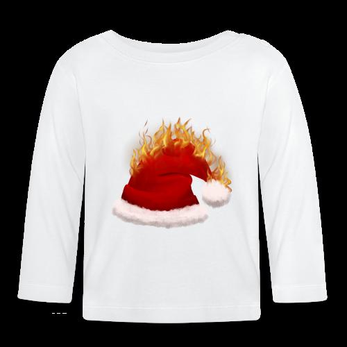 Brændende Nissehue - Langærmet babyshirt