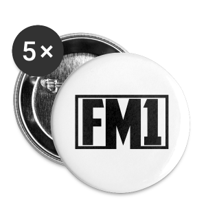 FM1 Hoodie (unisex) - Buttons/Badges lille, 25 mm
