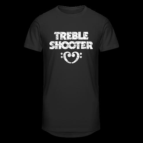 Treble Shooter Bass mit Herz (Vintage/Weiß) S-5XL T-Shirt - Männer Urban Longshirt