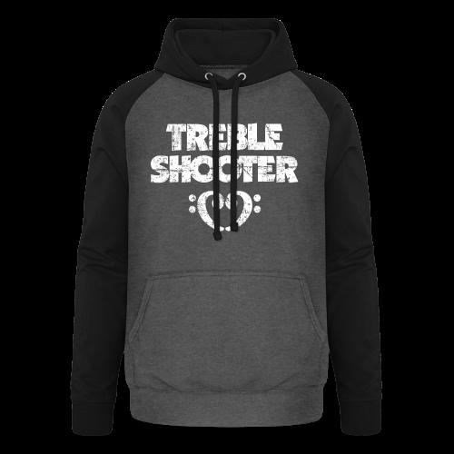 Treble Shooter Bass mit Herz (Vintage/Weiß) S-5XL T-Shirt - Unisex Baseball Hoodie