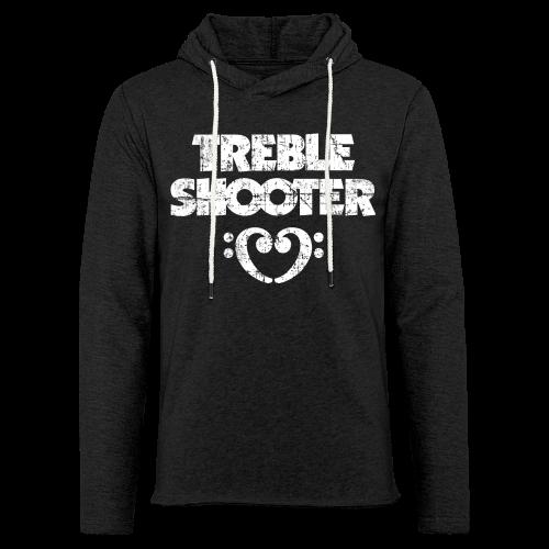 Treble Shooter Bass mit Herz (Vintage/Weiß) S-5XL T-Shirt - Leichtes Kapuzensweatshirt Unisex