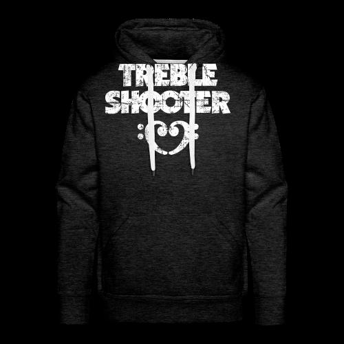 Treble Shooter Bass mit Herz (Vintage/Weiß) S-5XL T-Shirt - Männer Premium Hoodie
