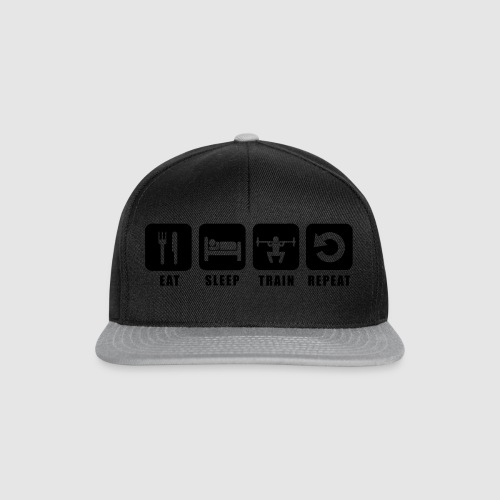 Tee shirt homme Eat Sleep Train Repeat - Casquette snapback