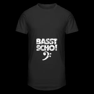 Basst Scho Vintage (Weiß) Bass Hoodie - Männer Urban Longshirt