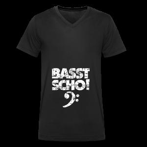 Basst Scho Vintage (Weiß) Bass Hoodie - Männer Bio-T-Shirt mit V-Ausschnitt von Stanley & Stella