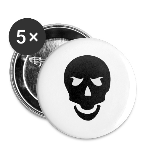 Skull Tribal - Buttons groß 56 mm