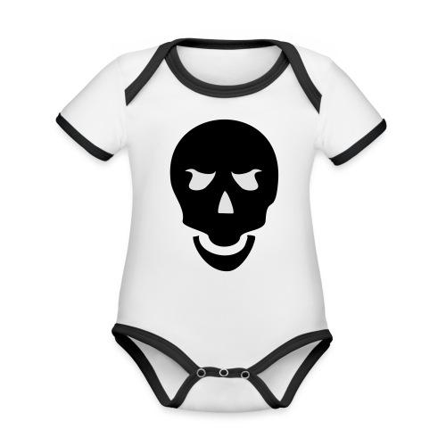 Skull Tribal - Baby Bio-Kurzarm-Kontrastbody