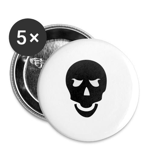 Skull Tribal - Buttons mittel 32 mm