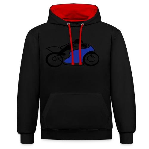 Race Speed Biker Motorrad Tribal - Kontrast-Hoodie