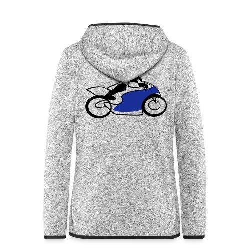 Race Speed Biker Motorrad Tribal - Frauen Kapuzen-Fleecejacke
