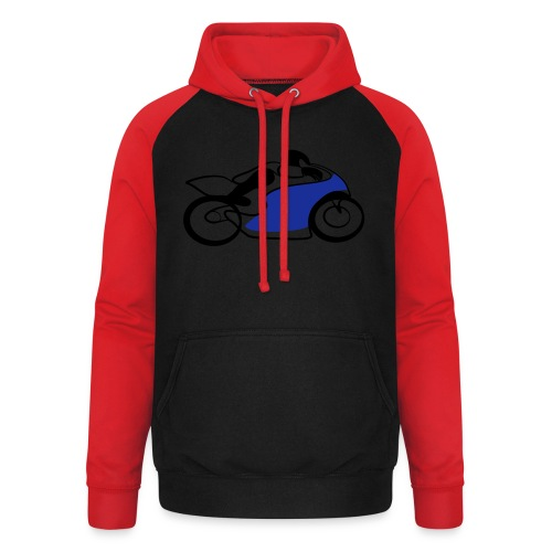 Race Speed Biker Motorrad Tribal - Unisex Baseball Hoodie