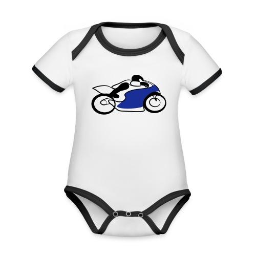 Race Speed Biker Motorrad Tribal - Baby Bio-Kurzarm-Kontrastbody