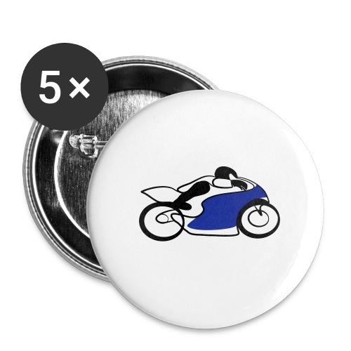 Race Speed Biker Motorrad Tribal - Buttons mittel 32 mm
