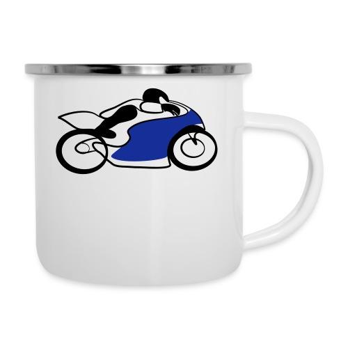 Race Speed Biker Motorrad Tribal - Emaille-Tasse