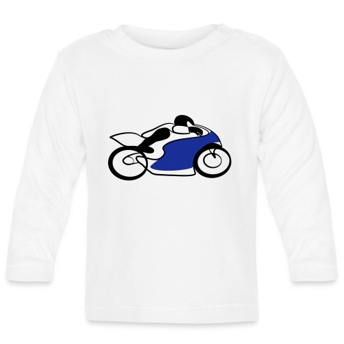 Race Speed Biker Motorrad Tribal - Baby Langarmshirt