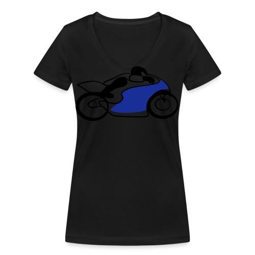 Race Speed Biker Motorrad Tribal - Frauen Bio-T-Shirt mit V-Ausschnitt von Stanley & Stella