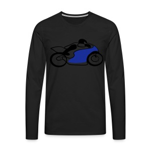 Race Speed Biker Motorrad Tribal - Männer Premium Langarmshirt