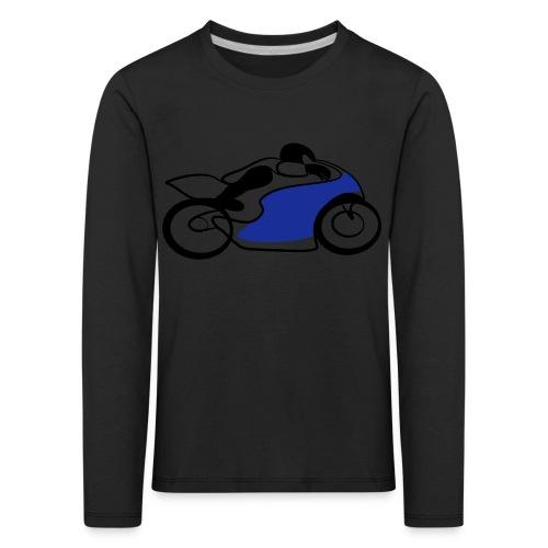 Race Speed Biker Motorrad Tribal - Kinder Premium Langarmshirt