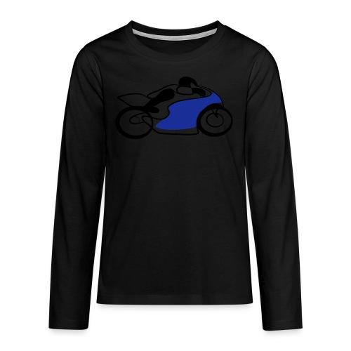 Race Speed Biker Motorrad Tribal - Teenager Premium Langarmshirt