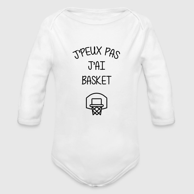 Basket / Basketball / Basket-ball / Basket ball Bodys Bébés - Body bébé bio manches longues