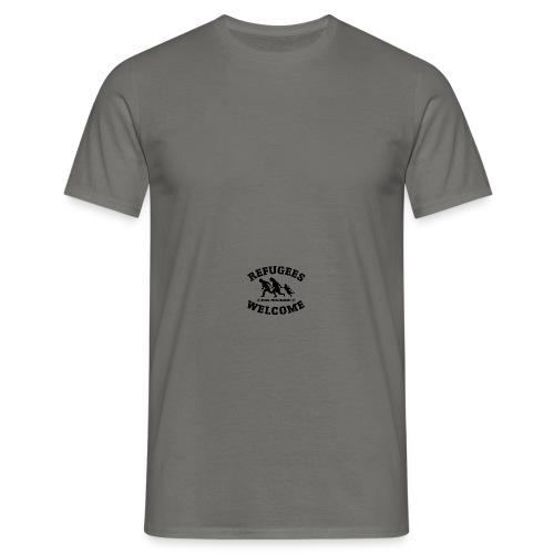 Refugees Welcome Kappe - Männer T-Shirt