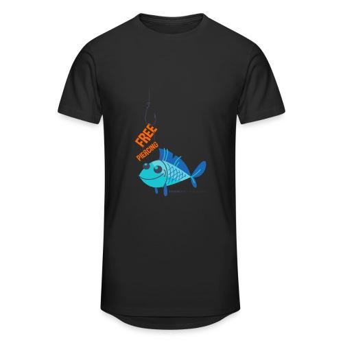 Lächelnder Fisch - FREE PIERCING - Männer Urban Longshirt