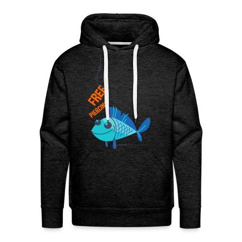 Lächelnder Fisch - FREE PIERCING - Männer Premium Hoodie