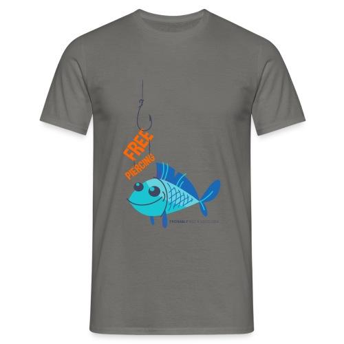 Lächelnder Fisch - FREE PIERCING - Männer T-Shirt