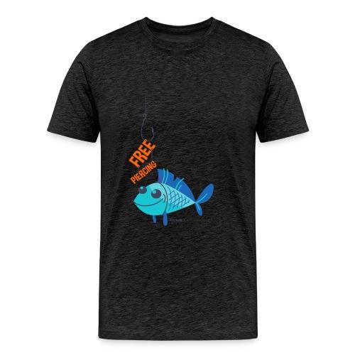 Lächelnder Fisch - FREE PIERCING - Männer Premium T-Shirt