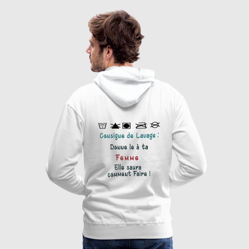 Consigne de Lavage - Sweat-shirt à capuche Premium pour hommes