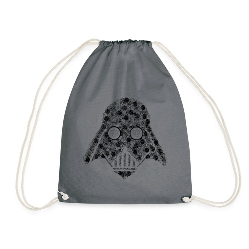 Darth Floral Bag - Drawstring Bag