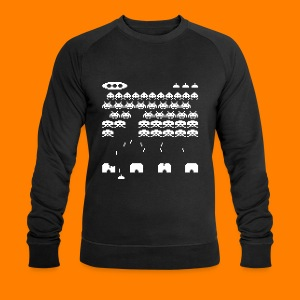 70s and 80s invaders video game - men's tee - Men's Organic Sweatshirt by Stanley & Stella