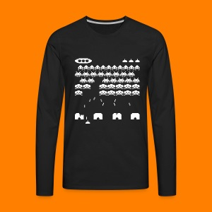 70s and 80s invaders video game - men's tee - Men's Premium Longsleeve Shirt