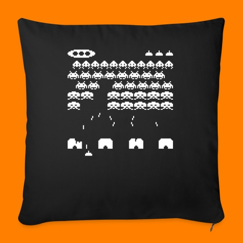 70s and 80s invaders video game - women's tee - Sofa pillow cover 44 x 44 cm